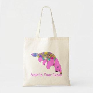 Bolsa Tote Formigas em sua arte cor-de-rosa brilhante do