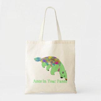 Bolsa Tote Formigas em sua arte verde do animal do Anteater