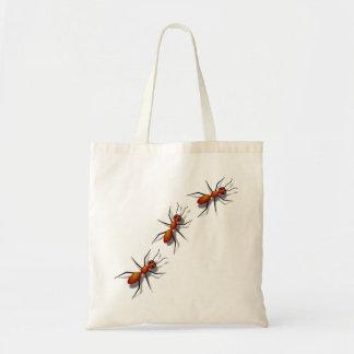 Bolsa Tote Formigas vermelhas que rastejam no seu