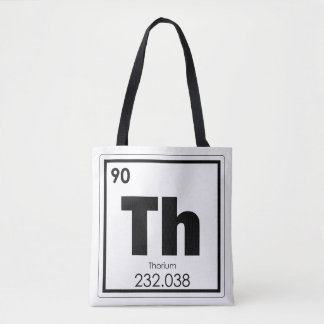Bolsa Tote Fórmula da química do símbolo do elemento químico