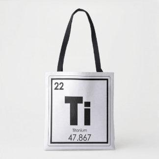 Bolsa Tote Fórmula Titanium da química do símbolo do elemento