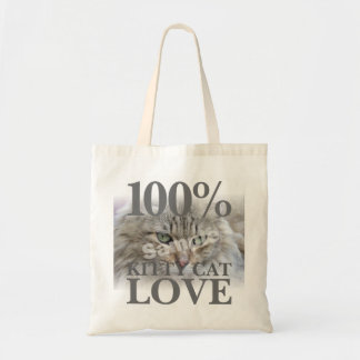 Bolsa Tote Foto 100% do amor do gato do gatinho