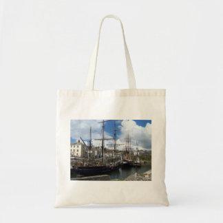 Bolsa Tote Foto de Cornualha do porto de Charlestown dos