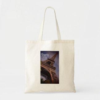 Bolsa Tote Foto famosa do marco da torre Eiffel de Paris