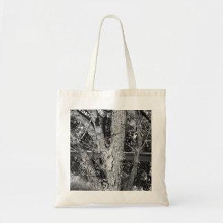 Bolsa Tote Foto preto e branco da natureza da árvore