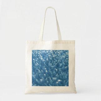 Bolsa Tote fotografia azul fresca bonita dos cristais de gelo