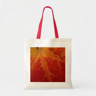 Bolsa Tote Fotografia vermelha da natureza do outono do