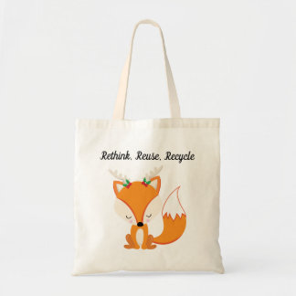 Bolsa Tote Fox bonito da floresta do Natal