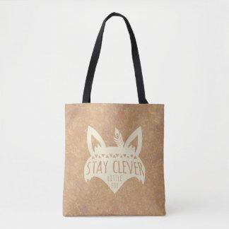 Bolsa Tote Fox, Fox pequeno inteligente da estada
