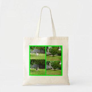Bolsa Tote Fox Terrier que joga no jardim,
