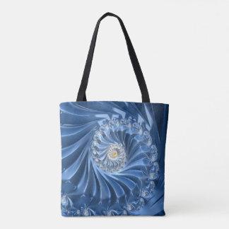 Bolsa Tote Fractal azul bonito