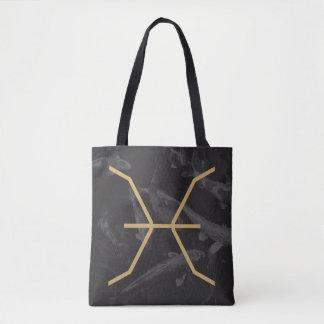 Bolsa Tote Fundo feito sob encomenda do sinal | do zodíaco