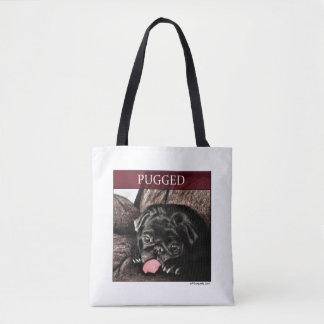 Bolsa Tote Fundraiser da caridade da sacola de PUGGED