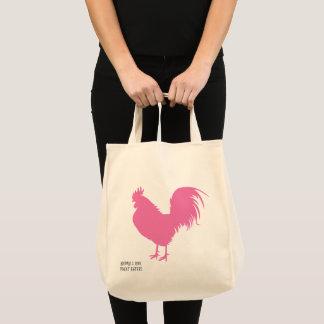 Bolsa Tote Galinha cor-de-rosa!