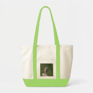 Bolsa Tote Garça-real verde em um registro