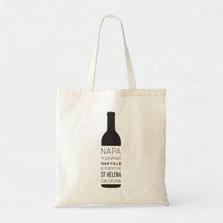Bolsa Tote Garrafa de vinho das cidades de Napa Valley