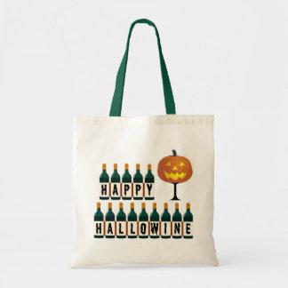 Bolsa Tote Garrafas felizes o Dia das Bruxas de Hallowine da