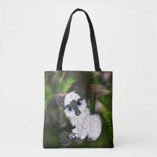 Bolsa Tote Gatinho macio branco adorável