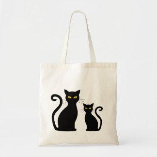 Bolsa Tote Gatinhos do gatinho do gato preto de Cateye dos