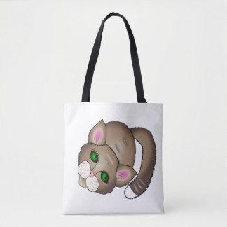 Bolsa Tote gato bonito e filhote de cachorro bonito