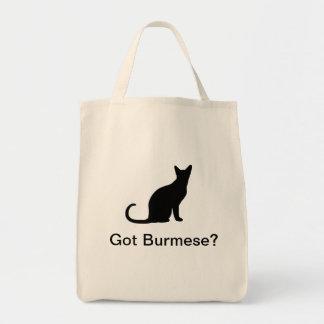 Bolsa Tote Gato Burmese obtido