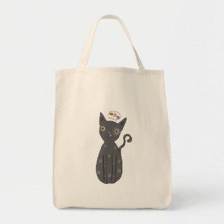Bolsa Tote Gato cinzento, gato, gatinho, gatinho, gato