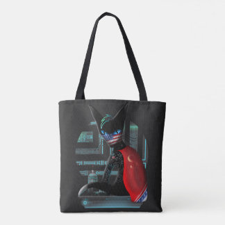 Bolsa Tote Gato de Ninja do Cyberpunk