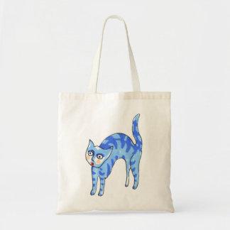 Bolsa Tote Gato de tigre azul