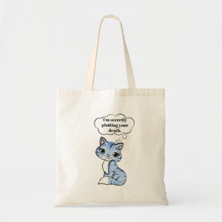 Bolsa Tote Gato engraçado do gatinho que traça sua morte