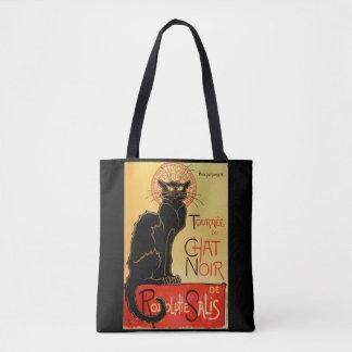 Bolsa Tote Gato preto de Arte Nouveau Le Conversa Noir do