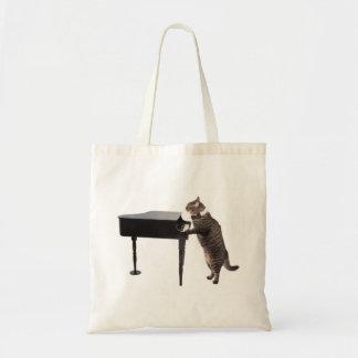 Bolsa Tote Gato que joga o piano