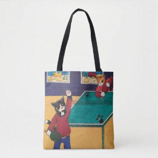 Bolsa Tote Gatos do ténis de mesa