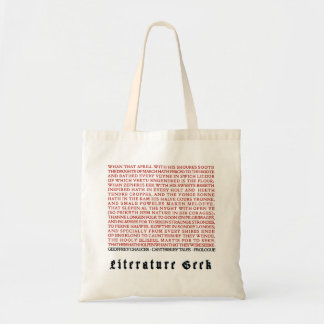 Bolsa Tote Geek da literatura - sacola de Chaucer