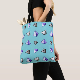 Bolsa Tote Geek geométrico do teste padrão da pirâmide da