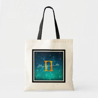 Bolsa Tote Gêmeos estrelados do sinal de Sun do zodíaco do