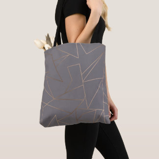 Bolsa Tote Geométrico minimalista moderno elegante do ouro