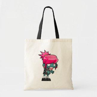 Bolsa Tote Ghoul de cabelo cor-de-rosa Funky da menina do