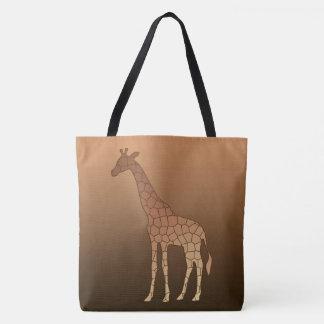Bolsa Tote Girafa, cobre e Brown geométricos modernos