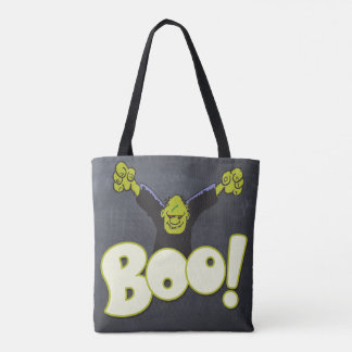 Bolsa Tote Giz preto do Dia das Bruxas Frankie do monstro de