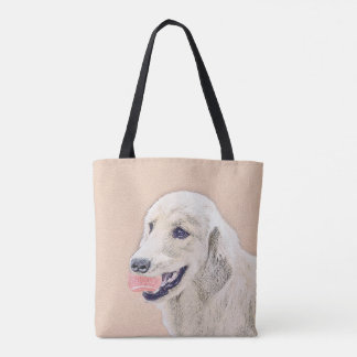Bolsa Tote Golden retriever com arte do cão da pintura da