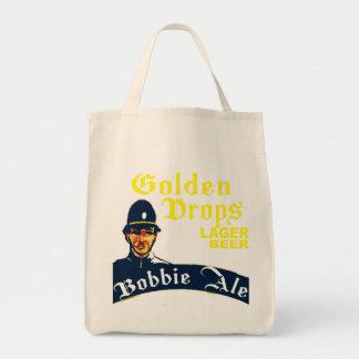 Bolsa Tote Gotas douradas/cerveja inglesa de Bobbie