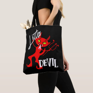Bolsa Tote Gráfico engraçado pequeno bonito do diabo vermelho