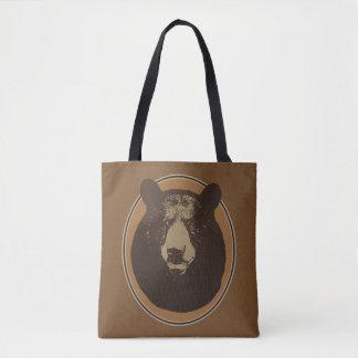 Bolsa Tote Gráfico montado da cabeça do urso da taxidermia