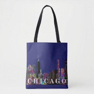Bolsa Tote Grafites de Chicago
