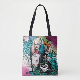 Bolsa Tote Grafites do caráter do pelotão | Harley Quinn do