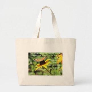 Bolsa Tote Grande 144:1 do salmo - borboleta dourada de 2 Susan