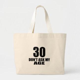 Bolsa Tote Grande 30 não peça meu design do aniversário da idade