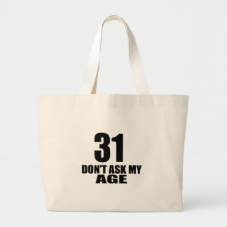 Bolsa Tote Grande 31 não peça meu design do aniversário da idade