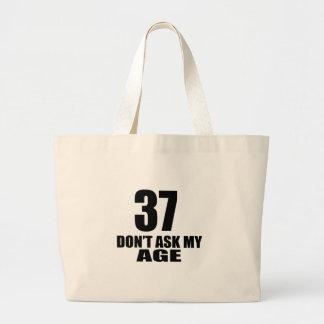 Bolsa Tote Grande 37 não peça meu design do aniversário da idade
