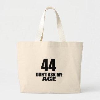 Bolsa Tote Grande 44 não peça meu design do aniversário da idade